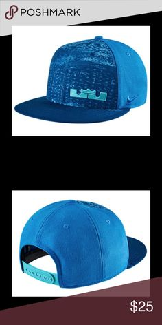 "New Nike LeBron James Rubber City Basketball Hat NIKE FLAT BILL SNAPBACK HAT   LEBRON JAMES  "" RUBBER CITY""  LIGHT PHOTO BLUE  ADJUSTABLE ONE SIZE FITS MOST NEW WITH TAGS  BENEFITS Dri-FIT fabric helps keep your head dry and comfortable Six-panel design with interior taping for a comfortable fit Embroidered eyelets at each panel for breathability Snap closure at back offers an adjustable fit PRODUCT DETAILS Fabric: Body: 100% polyester. Back of front: Dri-FIT 92% polyester/8% cotton. Hand…"
