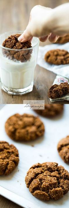 Paleo Gingersnaps. Butter free, gluten free and grain free.