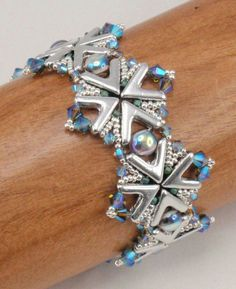 Winter Snowflake Beaded Bracelet Jewelry