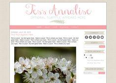 Premade Blogger Template Theme Blog Design  by KreatedByKelsey1, $28.00
