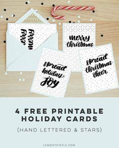 4 Free Printable Hol