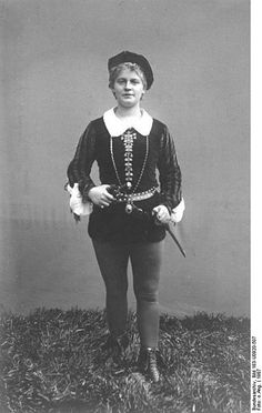 unidentified girl playing Viola (dressed as Cesario) in Shakespeare's 'Twelfth Night' - photo 1907