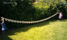 Arabic Alphabet Scalloped Garland--could make this out of paper plates