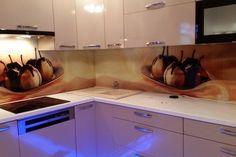 Placare cu sticla printata - Geamuri si oglinzi de la OpriCristal Santorini, Kitchen Cabinets, Home Decor, Decoration Home, Room Decor, Kitchen Cupboards, Interior Design, Home Interiors, Santorini Caldera