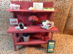 Another potting bench. I made kits for our miniature group to do as a project. Was very fun! 04/03/14