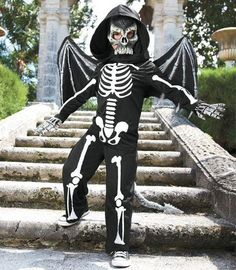 A Flying Skeleton Costume For Kids