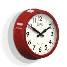 'Electric' Wall Clock, Vintage Schoolhouse Clock | Barn Light Electric
