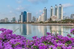 Таиланд Небоскребы Озеро Бангкок Города
