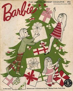 Barbie: The Mattel Barbie Magazine, Nov.-Dec. 1968, with Francie, Skipper and Tutti on the cover.