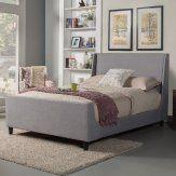 Alpine Furniture Amber Upholstered Platform Bed