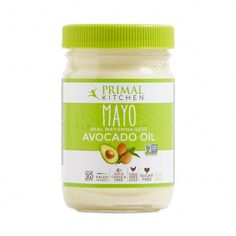 Made with healthy fat, this organic avocado oil mayo is a great paleo sandwich spread or secret ingredient in salad dressings and dipping sauces. Avocado Oil Mayo, Organic Avocado Oil, Gourmet Recipes, Whole Food Recipes, Healthy Recipes, Frozen Mojito, Organic Vinegar, Coconut Oil For Acne, Primal Kitchen