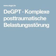 DeGPT · Komplexe posttraumatische Belastungsstörung