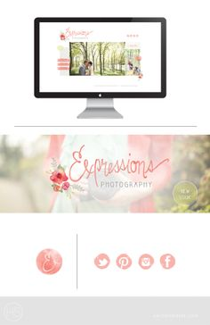Hey Hey Haleigh: Logo + Website Design | Expressions Photography