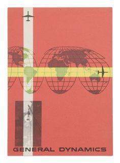 Erik Nitsche illustrations for General Dynamics