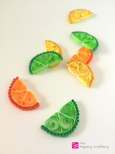 How to Make Quilling Paper Citrus Slices - The Papery Craftery