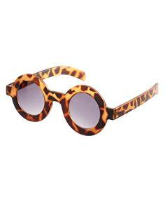 ASOS Flat Round Tortoiseshell Sunglasses $27.44