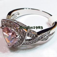choose between 3 different pink lab created rings. Starting at $13 on Tophatter.com!