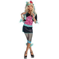 Déguisement Lagoona Blue Monster High enfant fille, licence Monster High, Halloween, fêtes.
