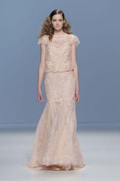 vestido de noiva Cymbeline Paris 2015 com cor pastel modelo Iphigenie