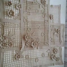 This Pin was discovered by Nal Crochet Motifs, Freeform Crochet, Crochet Squares, Irish Crochet, Crochet Doilies, Crochet Flowers, Crochet Lace, Crochet Stitches, Crochet Patterns
