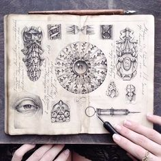 ✑ Sketching time || Ink, pen, moleskine, love ♡ #limkina_sketches