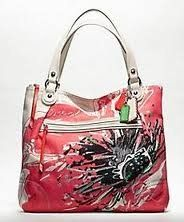 Coach Limited Edition Pieced Flower Glam Shopper Bag Purse Tote 19029 Coach embellished canvas with leather trim. Water and stain resistant fabrics. Click Pic for More Info
