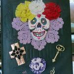 Big Dia De Los Muertos Altared Book Assemblage art by Laura Pallatin of LaBelle Mariposa