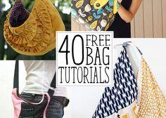 40 FREE bag pattern tutorials - Andrea's Notebook