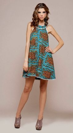 Vestido de verão em capulana. SSO (Simply Stand Out) African Print Top Model Inspired Dress now available on Etsy: www.etsy.com/uk/shop/AFRODABLE #Fashion #Africanprint #Summerdress