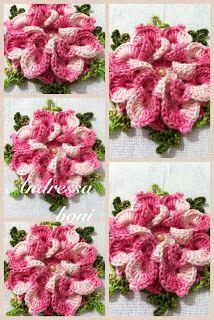 ♥Andressa Croche♥: flores em croche