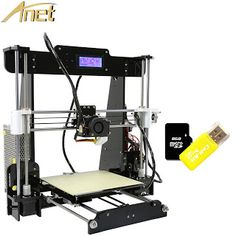 Cheap!!!Anet A8 Large Printing Size Precision Reprap Prusa i3 3D Printer Kit DIY With 10m Filaments Aluminum Hotbed LCD Video (32678496530)  SEE MORE  #SuperDeals
