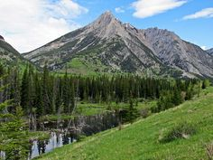 Mount Lorette in Kananaskis west of Calgary, Alberta, Canada