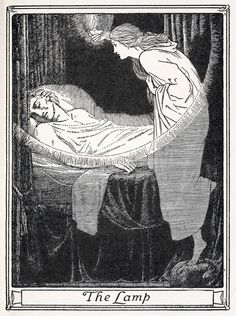 oldbookillustrations:  The lamp. Illustration by John D. Batten to The master-maid. From Europa's fairy book, restored and retold by Joseph ...