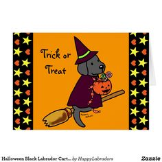 Shop Halloween Chocolate Labrador Cartoon 1 Postcard created by HappyLabradors. Dog Lover Gifts, Dog Lovers, Labrador Retriever, Halloween Chocolate, Halloween Cartoons, Cute Pumpkin, Cartoon Design, Black Labrador, Custom Greeting Cards