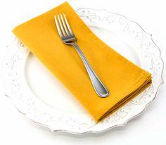 Dinner Napkin in Goldenrod
