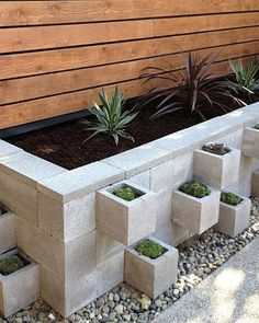 Garden Landscaping 9 DIY Cinder Block Gardens That Will Make You Want to Grab Your Gardening Tools via Brit Co Jardiniere Design, Cinder Block Garden, Cinder Blocks, Cinder Block Ideas, Cinder Block Walls, Herb Garden Design, Big Garden, Concrete Garden, Garden Pavers