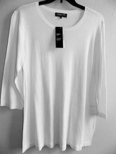 JONES New York womens long knit top size 3X 3/4 viscose/wool/ NEW tags plus size #JonesNewYork #KnitTop #Casual