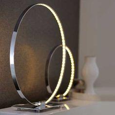 Wofi Cosmo 1 Light LED Circular Table Lamp 8960.01.01.0500 - KES Lighting