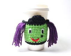 Witch Coffee Cozy/ Halloween Witch Cup Sleeve/ by MsAmandaJayne, $15.00