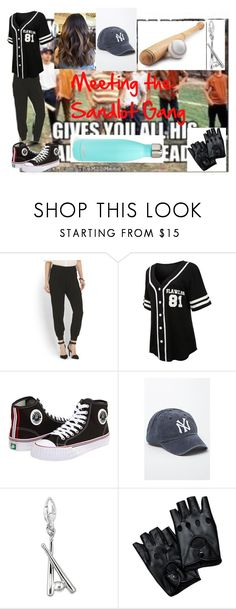 """Meeting the Sandlot Gang"" by nicolemr01 ❤ liked on Polyvore featuring LE3NO, PF Flyers, American Needle and S'well"