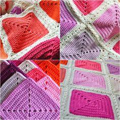 Wonderfully simple yet elegant pattern using multiple saturated colors.