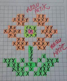 Beş şiş çetik(patik) ve tunusişi patiklerde kullanılabilecek desenlerin çizimleri...