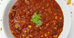 Vegetarisches Chilli mit roten Linsen ✓ Leckeres Chilli mit leichtem Rezept ☆ Jetzt nachkochen!