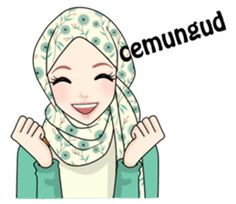 Buat chat kamu lebih asyik dengan Hijab Gaul Stiker :D Emoji Dictionary, Pray Quotes, Islamic Cartoon, Hijab Cartoon, Muslim Hijab, Self Reminder, Islamic Pictures, Line Sticker, Kawaii