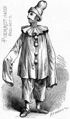carulcards:Hans Peter Hansen - Pierrot, after the 1850s