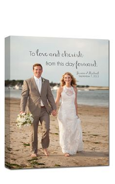 a very sweet keepsake - hang one of your wedding photos in your master bedroom. #customcanvas