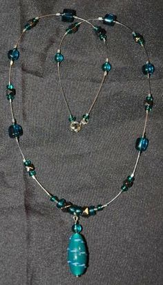 Teal and Hematite with wire:Custom Order