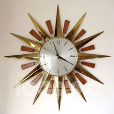 Metamec 1960s Sunbust Wall Clock
