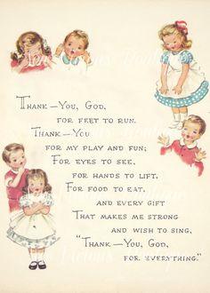 Bedtime Prayers For Kids, Prayers For Children, Childrens Prayer, Kids Prayer, Nursery Rhymes Poems, Kids Poems, Preschool Poems, Thank You God, Morning Prayers