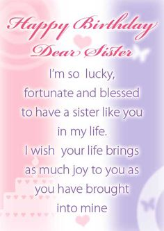 <b>Birthday</b> Cards For <b>Sister</b> From Brother <b>Free</b> printable <b>birthday</b> cards